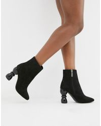 8f6d5d7ced3 ASOS Enchanter Chunky Ankle Boots in Black - Lyst