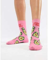 ASOS - Design Avocado Guac N Roll Sock - Lyst