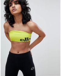 Ellesse | Bralet With Wraparound Contrast Logo | Lyst