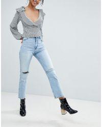 Monki - Ripped Knee Moluna Jeans - Lyst