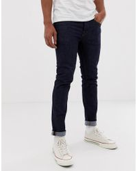 SELECTED - Skinny Fit Jeans In Dark Blue Wash - Lyst