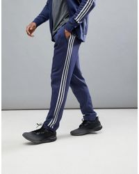 adidas - Athletics Knitted Joggers In Navy Cf2494 - Lyst