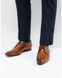 Ted Baker - Peair Leather Derby Shoes In Tan - Lyst