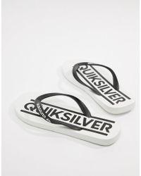 Quiksilver - Java Woodmark Logo Flip Flop In White - Lyst
