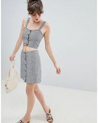 Monki - Check Skirt Co-ord - Lyst
