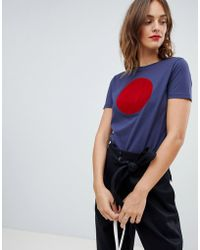 BOSS by Hugo Boss - Textured Circle T-shirt - Lyst