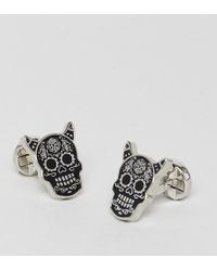 Noose And Monkey - Mexican Skull With Horns Cufflinks (+) - Lyst