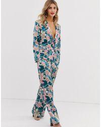 Liquorish - Pantalones de pijama con flores y ribetes neón de (parte - Lyst