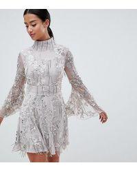 ASOS - Asos Edition Petite Sequin Fringe Skater Dress - Lyst