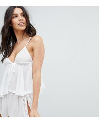 Wolf & Whistle - Bridal Ivory Cami And Short Pyjama Set - Lyst