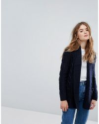 New Look | Cable Knit Cardigan | Lyst