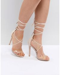 Public Desire - Aster Clear Strappy Sandals - Lyst