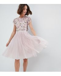 Needle & Thread - Tulle Midi Skirt - Lyst
