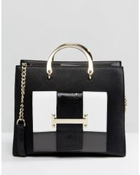 Faith - Monochrome Medal Handle Tote Bag - Lyst