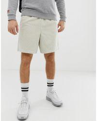ASOS Slim Shorts In Beige Cord