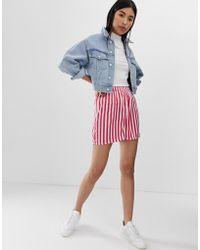 Pieces - Disha Stripe Shorts - Lyst