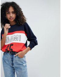 New Look - Colour Block Miami Sweat - Lyst