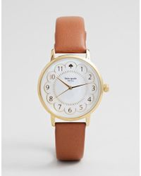 Kate Spade - Women's Scallop Metro Leather Watch - Lyst
