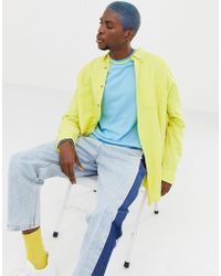 Collusion - Oversized Oxford Shirt In Yellow - Lyst