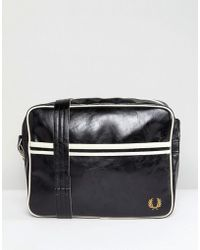 Fred Perry - Classic Shoulder Bag In Black - Lyst