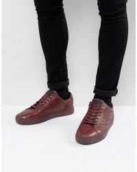 Religion - Ostrich Sneakers In Red - Lyst