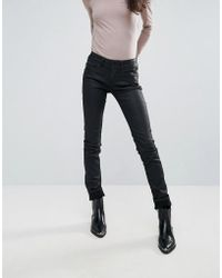 Pepe Jeans - New Brooke Waxed Skinny Jeans - Lyst