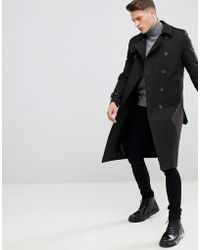 ASOS - Design Shower Resistant Longline Trench Coat With Belt In Black - Lyst