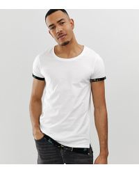 16b81e235043 ASOS Long Sleeve T-shirt With Bound Scoop Neck in Black for Men - Lyst