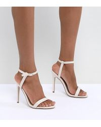 Missguided - Barely There Heeled Sandals - Lyst