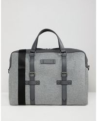 Ted Baker - Cabble Document Bag In Wool - Lyst
