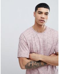 Bershka - Oversized Flecked T-shirt In Pink - Lyst
