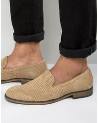SELECTED - Bolton Perforated Loafers - Lyst