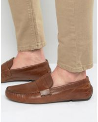 Red Tape - Penny Loafer In Tan Leather - Lyst