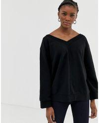 Cheap Monday - Well V-neck Sweatshirt - Lyst