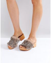 Free People - Faux Fur Sonnet Clog - Lyst