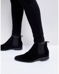 New Look - Faux Suede Chelsea Boot In Black - Lyst