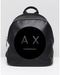 Armani Exchange - Ax Face Logo Backpack - Lyst