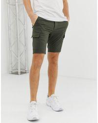ASOS - Skinny Cargo Shorts In Khaki - Lyst