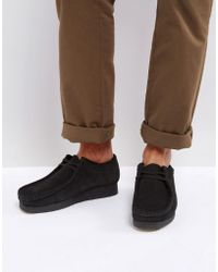 Clarks - Wallabee Suede Shoes - Lyst
