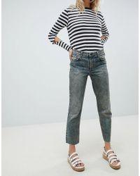 Cheap Monday - Revive Cropped Straight Leg Jean - Lyst