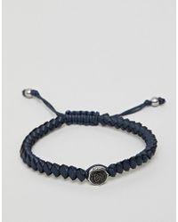 DIESEL - Mens Stainless Steel Rope Bracelet - Lyst