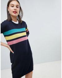 Esprit - Rainbow 3 Stripe Jumper Dress - Lyst