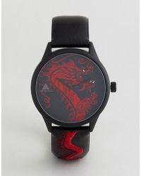 ASOS - Watch With Dragon Embroidered Design - Lyst