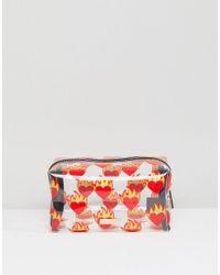 Skinnydip London | Flame Heart Make Up Bag | Lyst