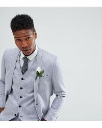 Noak - Slim Wedding Suit Jacket In Crosshatch - Lyst