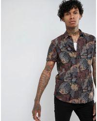 ASOS - Regular Fit Vintage Print Shirt - Lyst