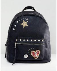 ASOS - Design Embellished Badge Backpack - Lyst