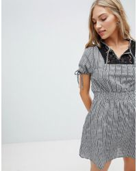 Hazel - Gingham Smock Dress - Lyst
