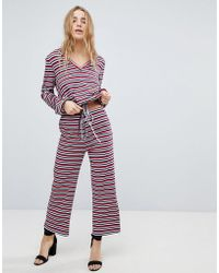 Honey Punch - Relaxed Trousers In Stripe Co-ord - Lyst