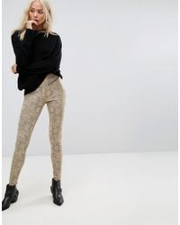Religion - High Waist Biker Trousers In Faux Snake - Lyst